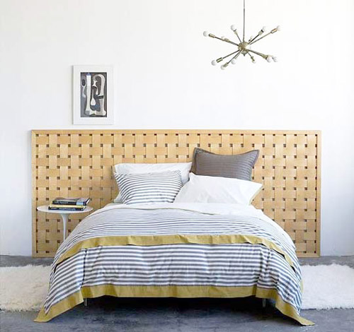 gray and yellow striped bedding is one of bedroom decorating ideas for fall