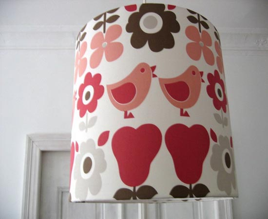 red birds on lamp shade kids rooms decor accessories