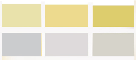 light gray and yellow color scheme for interior decorating ideas in fall