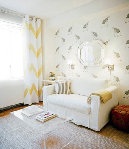 light gray and yellow decorations window curtain throw and modern wallpaper