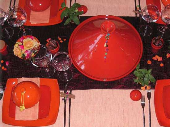 Moroccan style party and table decorating ideas in orange color