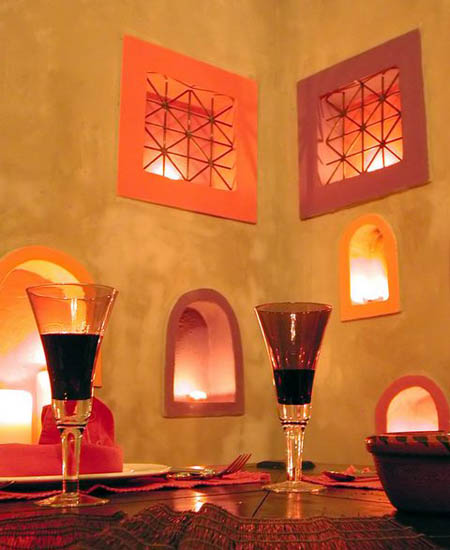 moroccan decor in yellow and orange colors