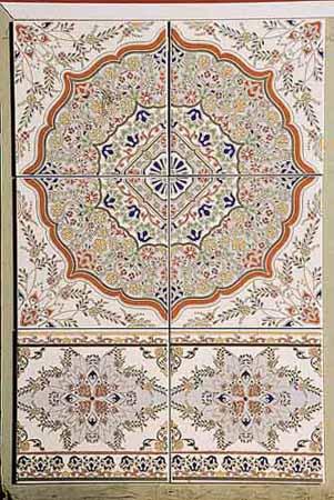 moroccan-tiles-white-blue-orange-colors-morocco-decor