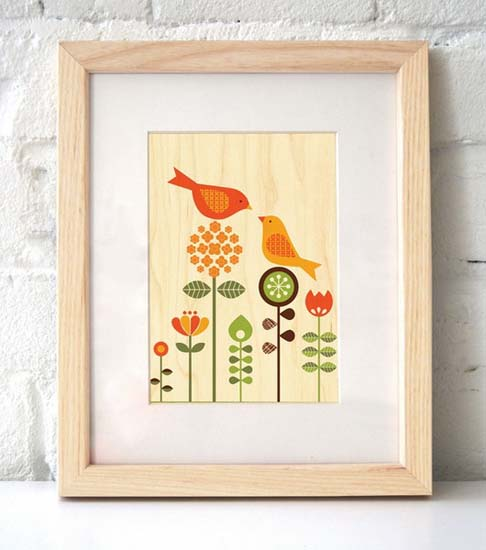 kids rooms decor accessories with images of birds