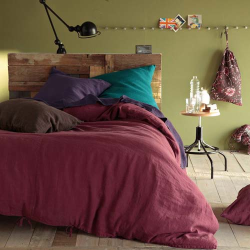 plum bedding sets with turquoise purple and brown pillows