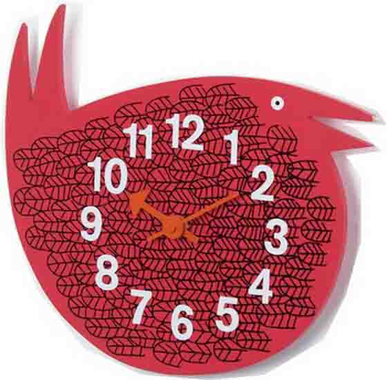 red bird clock decorating ideas for kids rooms