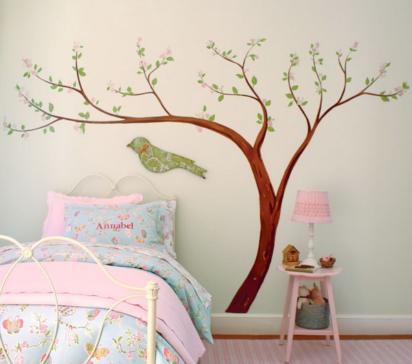 wooden bird house decoration for kids room