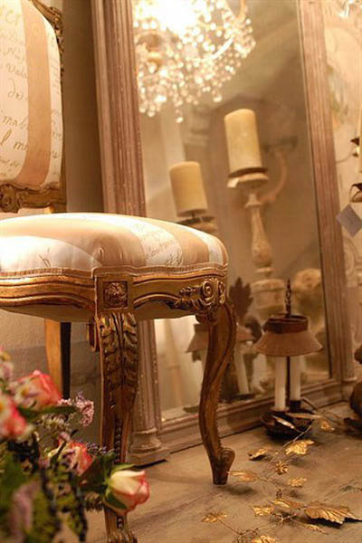 antique-furniture-design-french-style-chair-striped-upholstery-fabric
