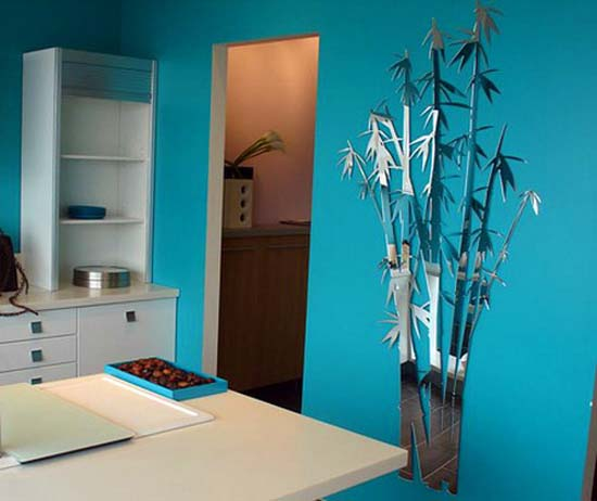 Bamboo Room Decor: Mirror Wall Stickers, Bright Ideas For Room Decorating