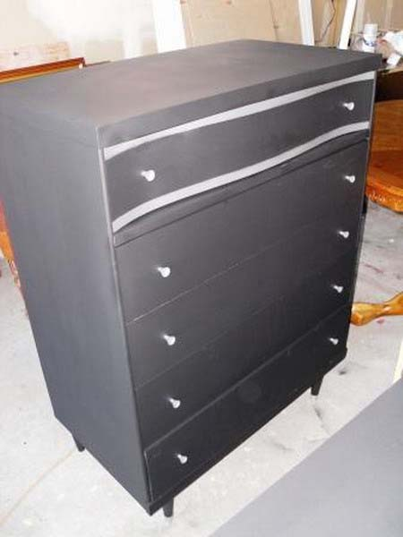 black and white decor colors for decorating a dresser and painting furniture