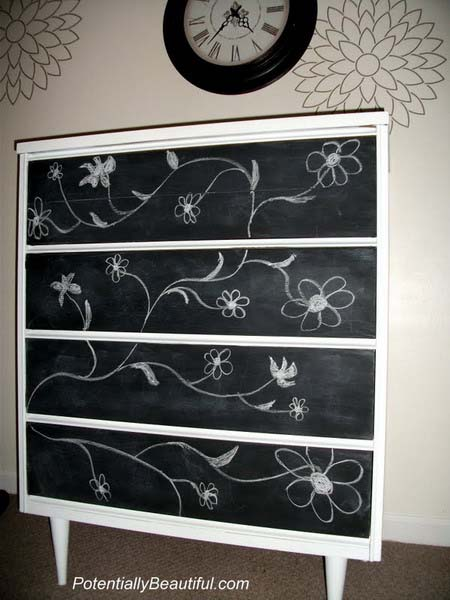 black and white painting ideas for furniture decoration
