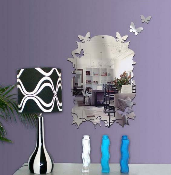 butterfly-mirror-sticker-wall-decoration-ideas