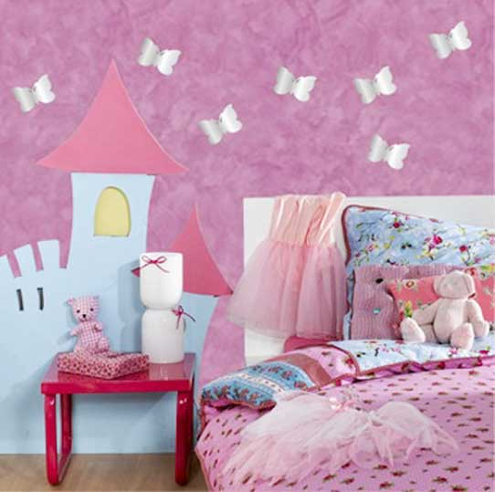 butterfly-wall-stiker-design-wall-mirrors-girls-bedroom-decor