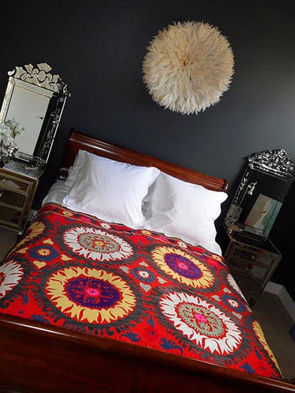 african hat used for modern bedroom decor