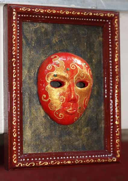 carnival masks in venetian style are unique wall decor art