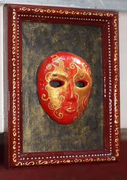 carnival masks in venetian style are unique wall decor art