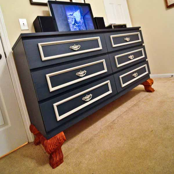 chalkboard paint for a dresser and ideas for furniture decoration