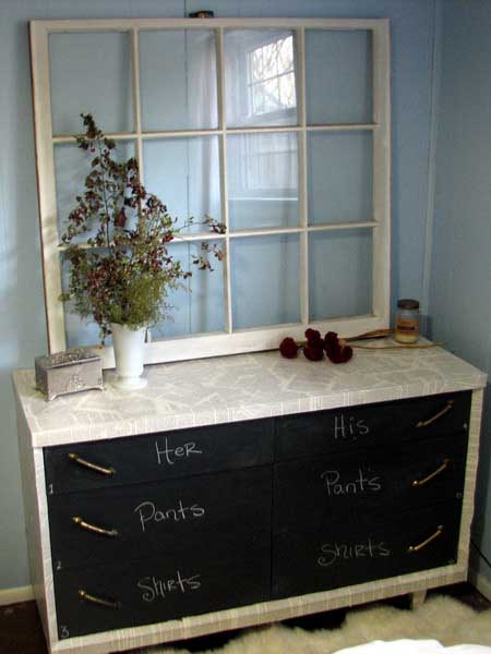 chalkboard paint for painting furniture in black and white colors