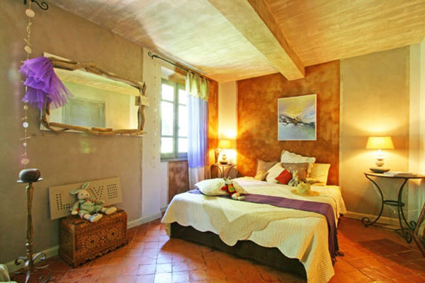 french country home furniture, bed and colorful bedroom ideas
