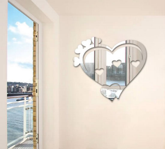 heart-wall-stickers-mirror-room-decorating-ideas