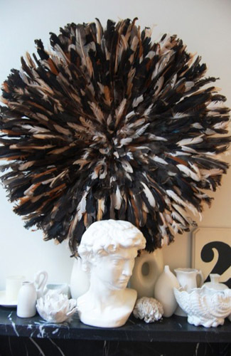 black and white african hats for wall decoration