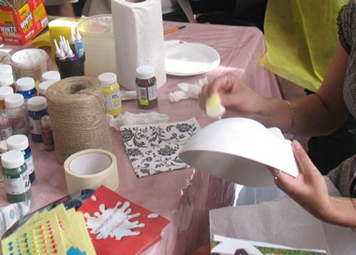 making masquerade masks are simple craft ideas