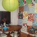 modern wall decor ideas with patchwork wallpaper pattern