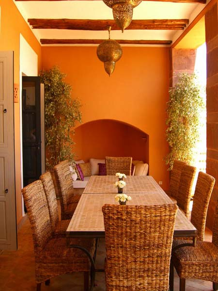 moroccan decor and dining furniture with moroccan lantern