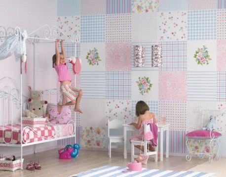 patchwork wall decor ideas for kids room are modern interior design trends