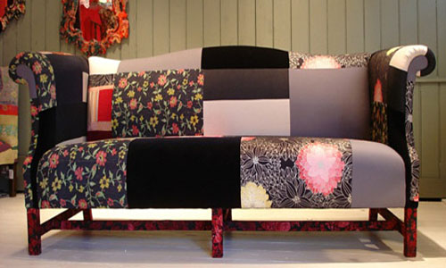 modern patchwork fabric for furniture upholstery is one of country style interior design trends