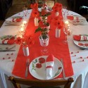 red poppies for floral centerpieces and bright table decorating ideas