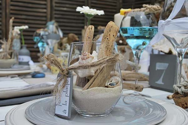 sand, seashell and driftwood craft ideas and table centerpieces for eco friendly homes