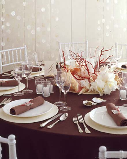 seashell and driftwood table centerpiece ideas