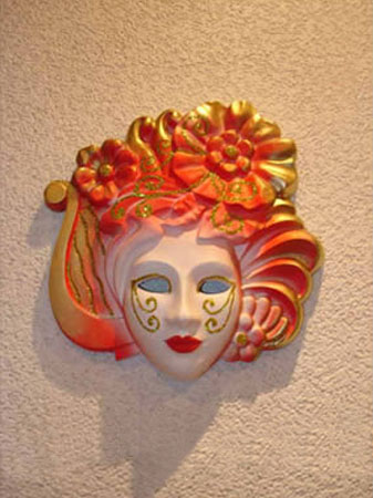 venetian masks for a masquerade create beautiful wall decor art