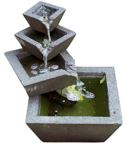 waterfall fountain is one of outdoor fountains and modern backyard ideas