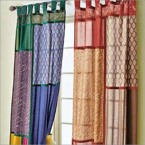 window curtains made like patchwork fabric is one of modern interior design trends