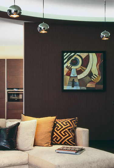 art deco for walls, abstract paintings on dark brown wall
