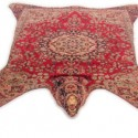 bear wool rug inspired by persian rugs