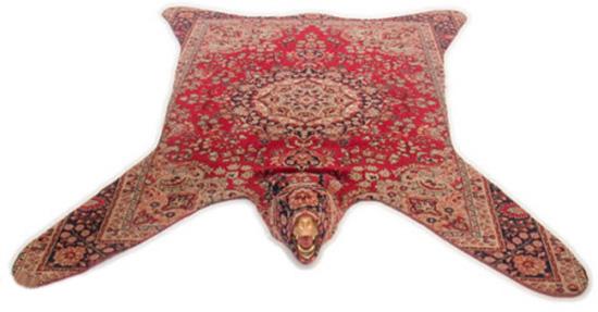 bear wool rug inspired by persian rugs