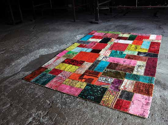 colorful contemporary rugs are modern floor decor ideas
