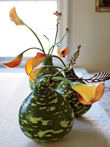 Fall Holiday Decorations Gourd And Pumpkin Floral Arrangements
