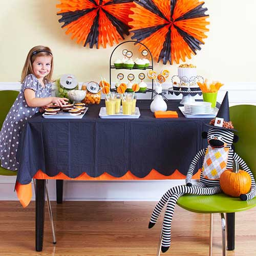 orange pumpkins wall decoration for halloween party