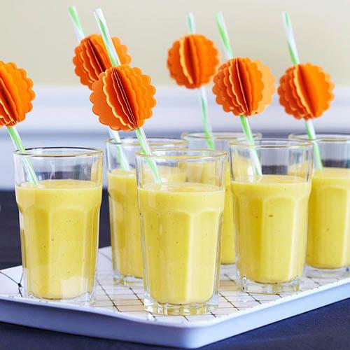 orange pumpkin decorations for kids drinks
