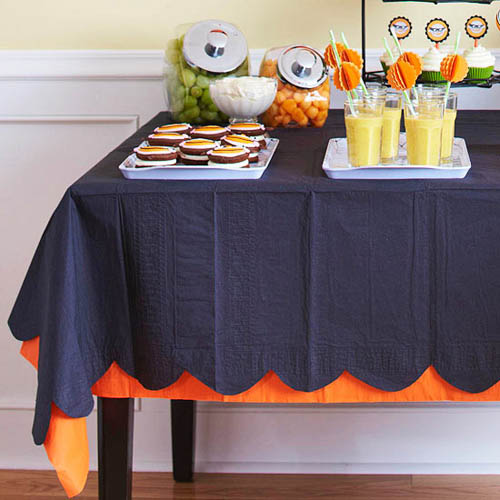 creative halloween ideas for kids and party table decorating with colorful food and drinks