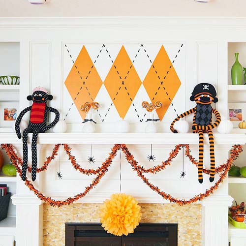 fireplace decoration ideas for kids halloween party