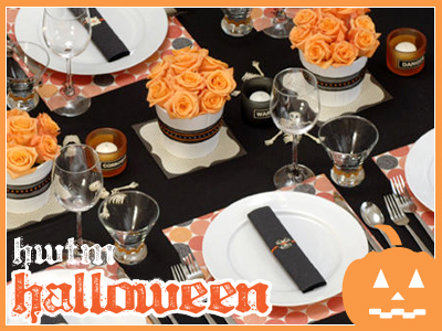 Halloween Fabric Tablecloth