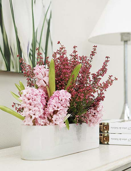 Heather flower arrangements colorful table centerpiece ideas Simple flower decoration ideas