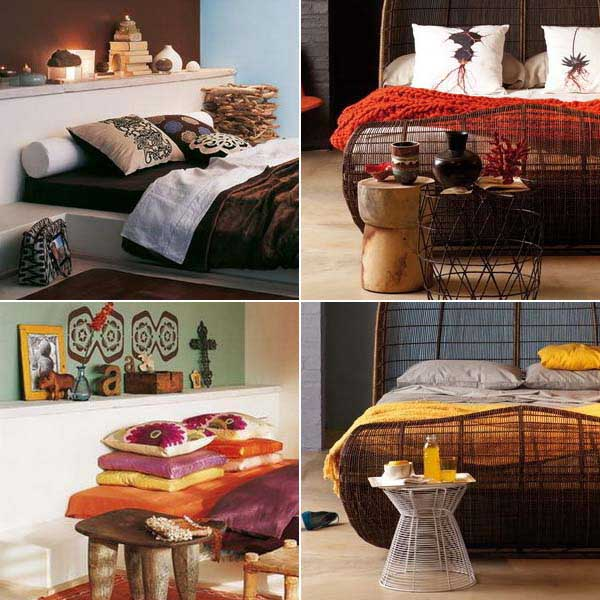 modern bedroom decorating ideas and african decorating colors
