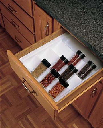 modern kitchen cabinets with spices storage ina drawer