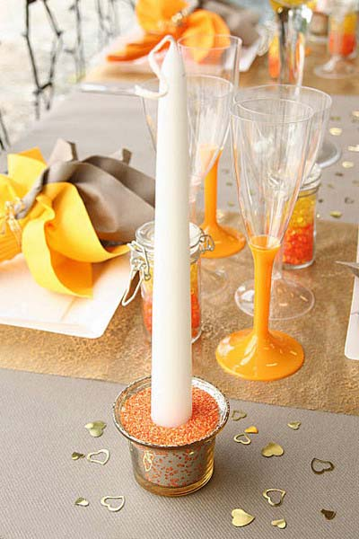 table decoration ideas orange colors for fall decorating